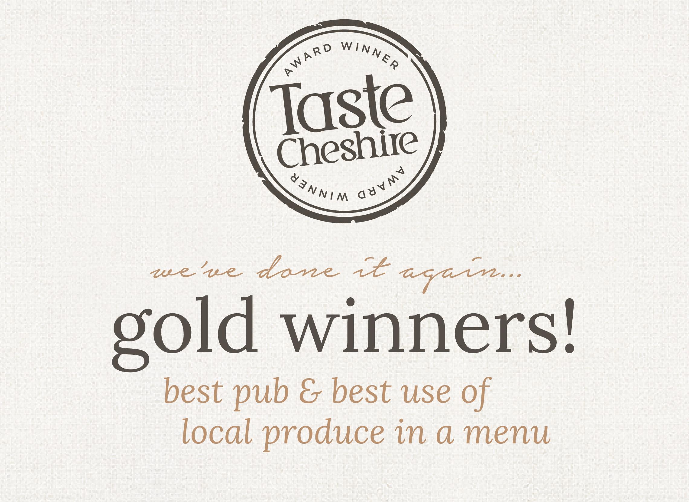 Taste Cheshire Award Winners