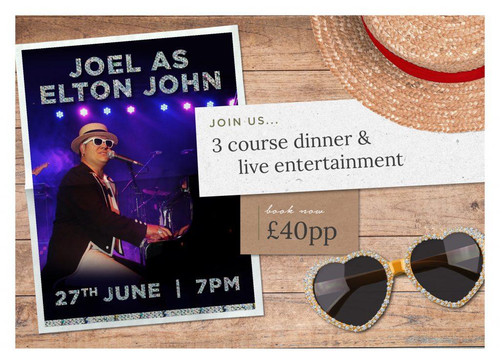 Elton John Tribute Night near Chester